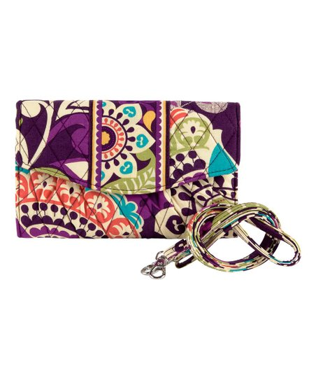 a0c811021 Vera Bradley Plum Crazy Strap Wallet Crossbody Bag   Zulily