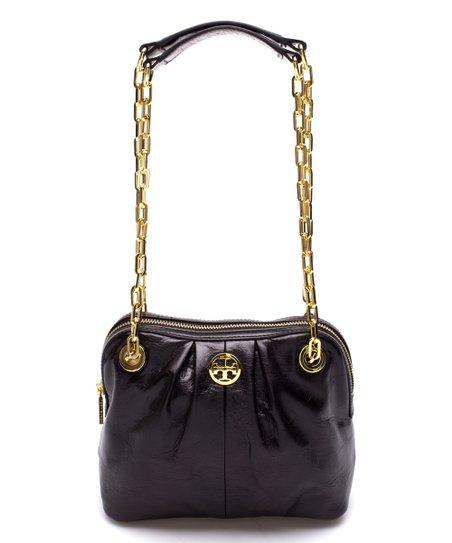 8d1662f164b Tory Burch Black Dena Mini Leather Shoulder Bag | Zulily