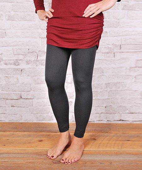 03e7b3ef74a128 love this product Charcoal High-Waist Fleece-Lined Leggings - Women & Plus