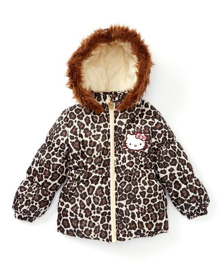 d4ae7a160 E-play Brands Leopard Hello Kitty Hooded Puffer Coat - Toddler ...