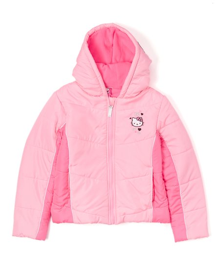 1e97631df love this product Pink Hello Kitty Color Block Puffer Jacket - Girls