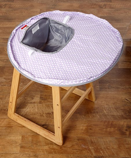306ddf6d6 Lavender   Gray Neatnik Saucer® High Chair Cover