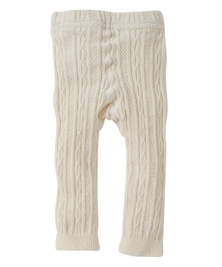 0ab307a1500ec Burts Bees Baby Ivory Cable Knit Organic Tights - Infant & Toddler ...