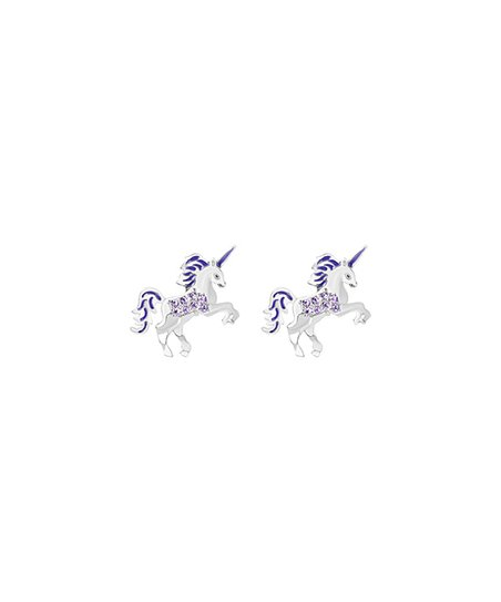 cb2e390e8 love this product Purple & Sterling Silver Unicorn Earrings With Swarovski®  Crystals