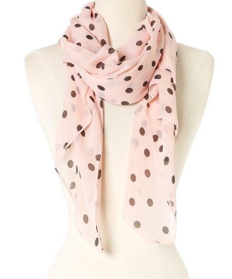 87fba466cf55 love this product Peachy Pink   Black Polka Dot Scarf
