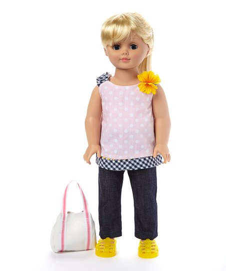 1588c67d41a Favorite Friends By Madame Alexander Polka Dot   Denim Outfit for 18 ...