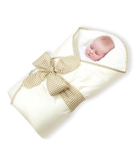 Cream Bow Bundlebee Baby Wrap Zulily