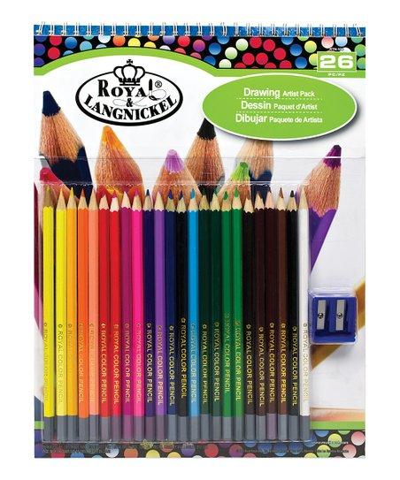 royal brush drawing pad colored pencil set zulily