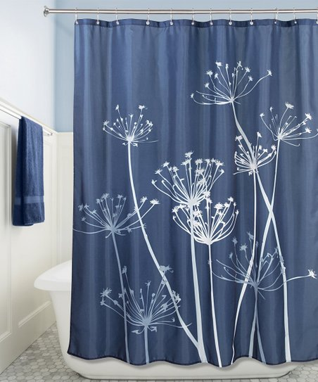 Love This Product Navy Slate Blue Thistle Shower Curtain