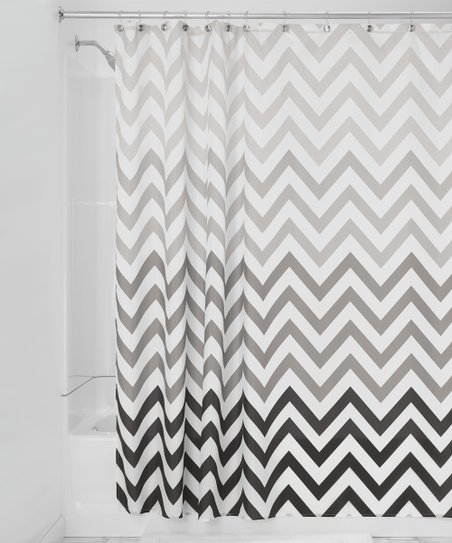 Gray Ombre Chevron Shower Curtain