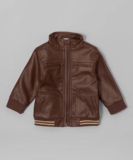00e27349f Wendy Bellissimo Brown Bomber Jacket - Infant