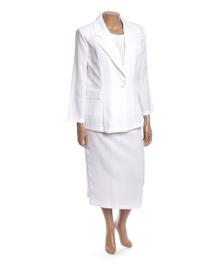 love this product White Skirt Suit Set - Women   Plus a3c86edfa