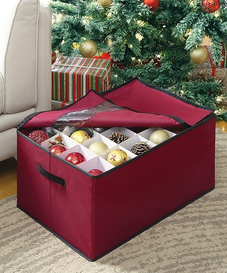 Christmas Ornament Storage.Organize It All Christmas Ornament Storage Box