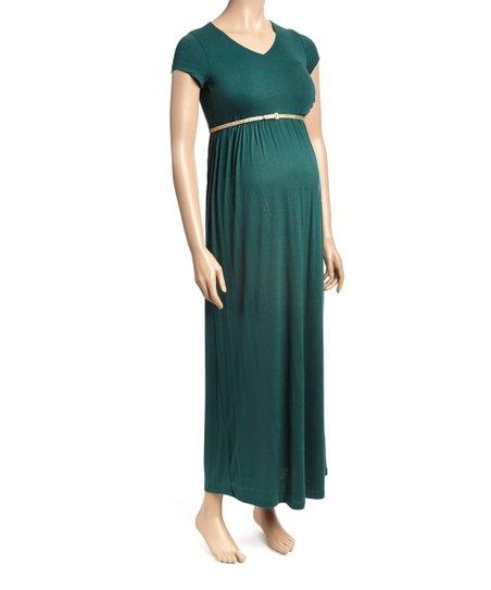 1c715c515c love this product Three Seasons Green Gables Belted Maternity Nursing Maxi  Dress