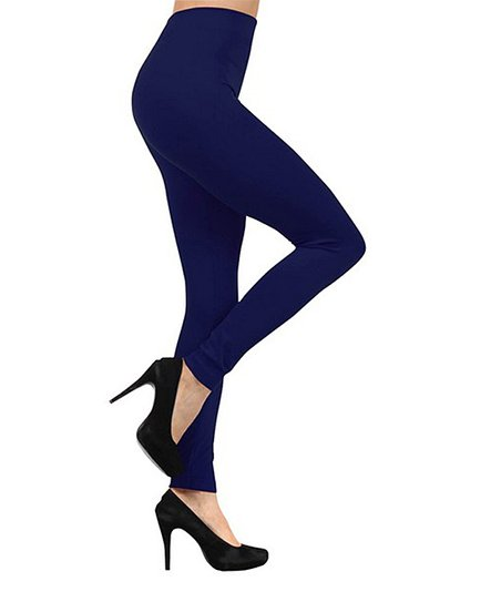 71748509e39378 love this product Navy Fleece-Lined Leggings - Plus