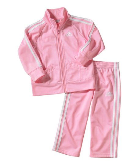 be4e338a78a37f love this product Pink Iconic Tricot Tracksuit - Infant, Toddler & Girls