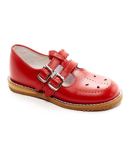6c9ad3eb02f7 love this product Red Skipper Leather Double-Buckle Mary Jane - Girls