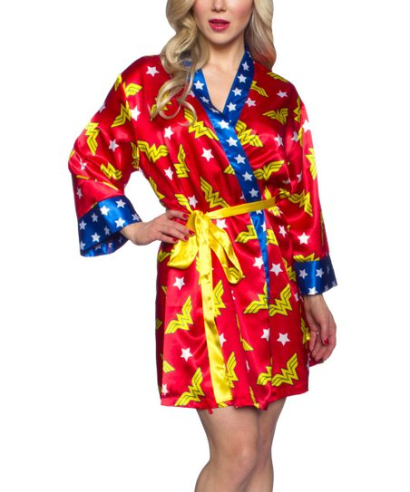 0b842a8717 love this product Red   Yellow Wonder Woman Satin Robe - Women