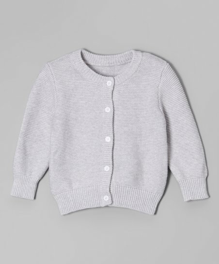 846bca140 Leighton Alexander Gray Button-Up Cardigan - Infant