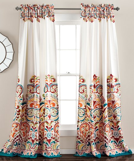 tangerine clara room darkening curtain panel set of two zulily