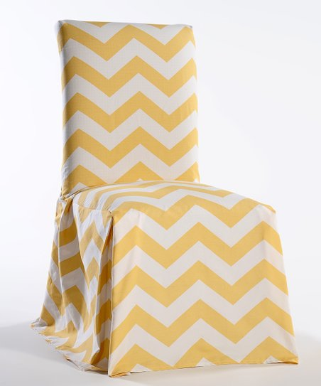 Tremendous Classic Slipcovers Yellow Chevron Dining Chair Slipcover Gmtry Best Dining Table And Chair Ideas Images Gmtryco