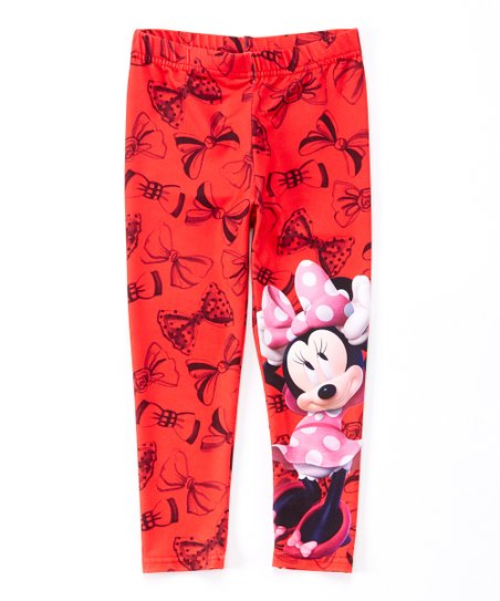 09d0b6061f91e love this product Red Floral Minnie Mouse Leggings - Toddler & Girls