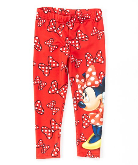 ff9c320ddc55b Mickey Mouse & Minnie Mouse Red Minnie Mouse Leggings - Toddler ...