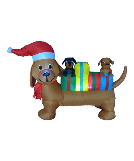 6 Christmas Dog Inflatable Light Up Lawn Decoration Zulily