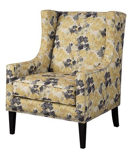 Main Green Yellow Black Fl Accent Chair