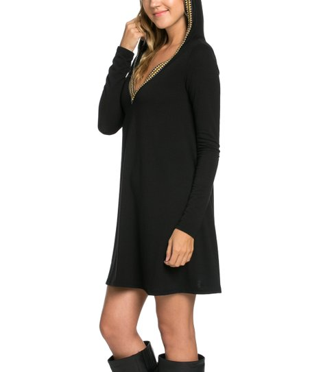aa472429999 love this product Black Hooded Tunic Dress
