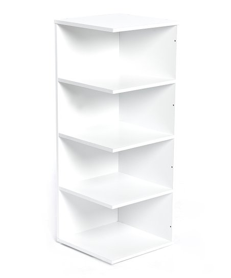 Bandwagon Inc White Corner Bookshelf