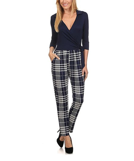 1ba2530004bc love this product Navy   White Plaid Jumpsuit