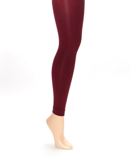 331593cbd9525 love this product Cranberry Opaque Tights
