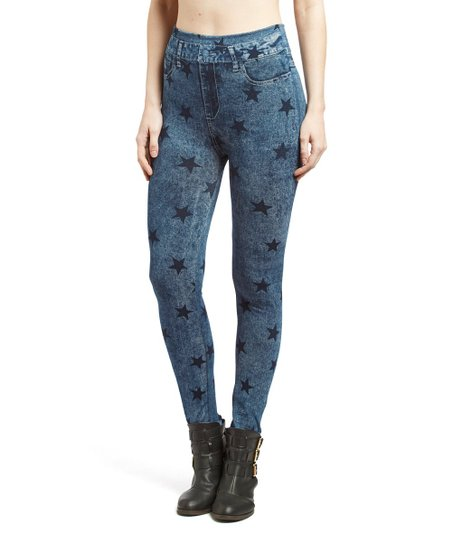 d58b88a5679e8 Modadorn Blue Star Jeggings | Zulily