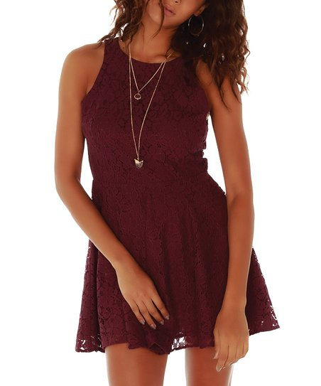 5faabb5eca love this product Marsala Lace Holly Jean Skater Dress
