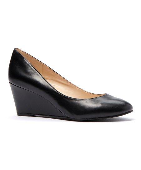 90f0bbef4a407e Nine West Black Ispy Leather Wedge