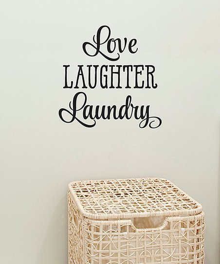 Wall Quotes™ by Belvedere Designs Love Laughter Laundry Wall ...