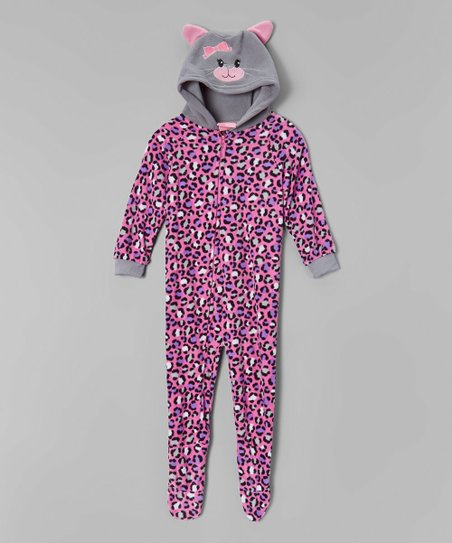 love this product Gray   Pink Cat Hooded Blanket Sleeper - Toddler 513308ff6