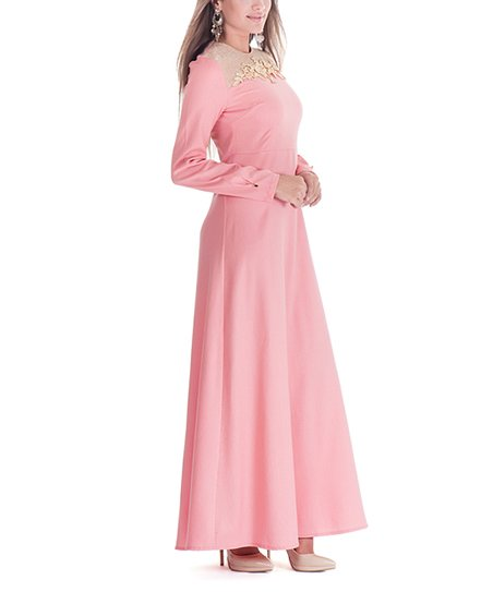 b61076079ec love this product Rose Pink Floral Maxi Dress