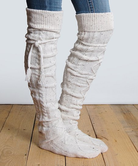 5b77e0d33d32c Grace and Lace Tweed Alpine Thigh-High Boot Socks | Zulily