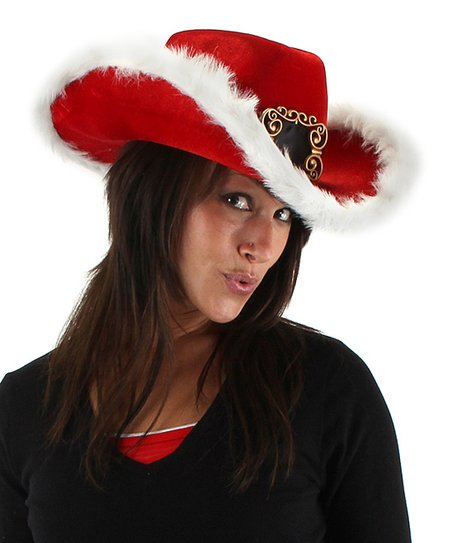 love this product Red Santa Cowboy Hat 07e50c4fbb0