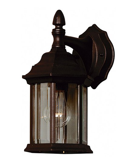 Kenroy Black One-Light Canton Wall Lantern  51d5c8548