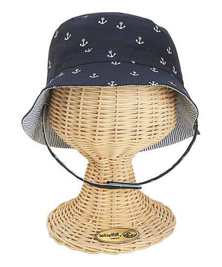 San Diego Hat Company Navy Reversible Chin Strap Bucket Hat  677743656e3