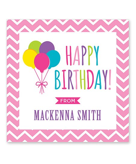 Love This Product Pink Balloons Personalized Birthday Gift Sticker