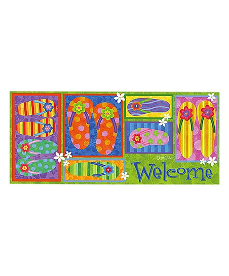 1db4f267f Welcome Flip Flop Switch Doormat