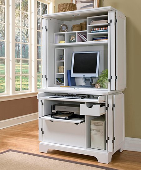 Love This Product White Naples Compact Computer Desk U0026 Hutch