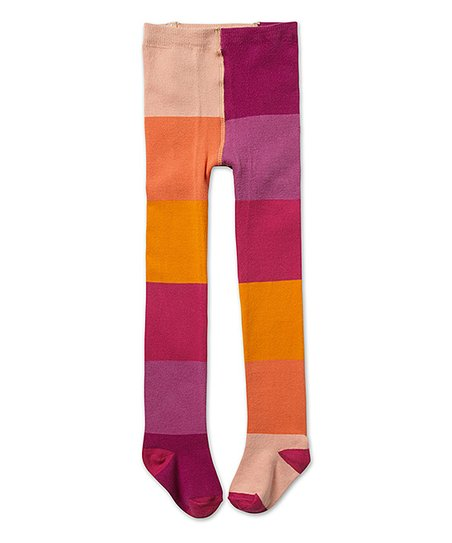 e40f7d9fba39a love this product Sunset Block Footed Tights - Infant, Toddler & Girls