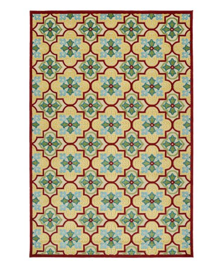 Love This Product Red Gold Quatrefoil Five Seasons Indoor Outdoor Rug
