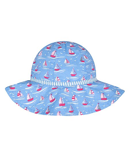 b40689e3 JoJo Maman Bébé Blue Regatta Sun Hat | Zulily