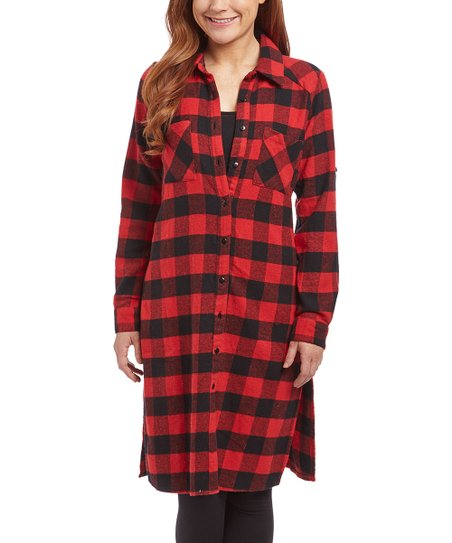 cbf2cf6a964 love this product Red   Black Buffalo Check Shirt Dress